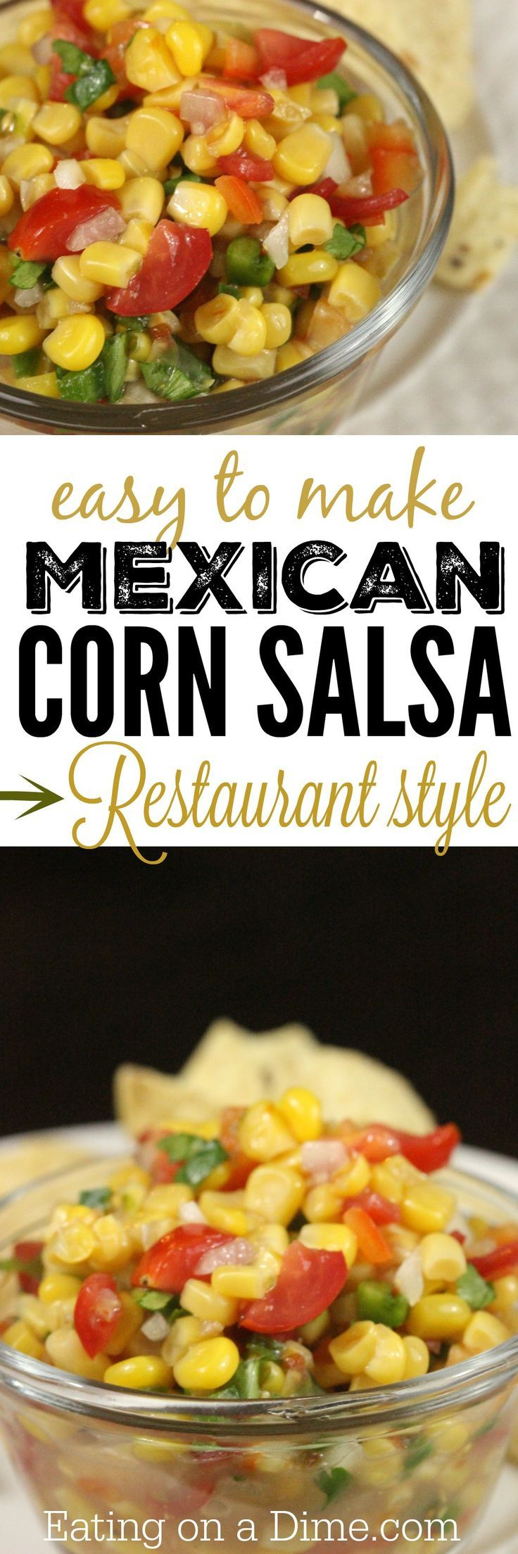 This is the BEST Mexican Corn Salsa Recipe, and it is so easy to make!