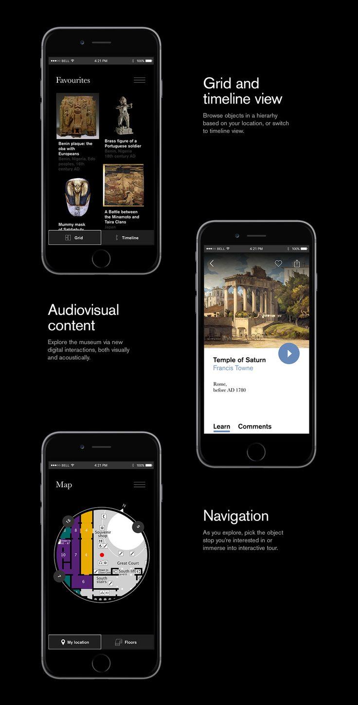 British Museum - iOS App Concept on App Design Served