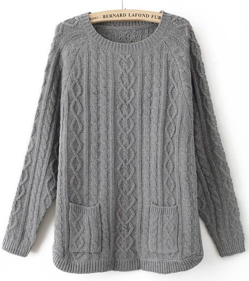 It's not nearly cold enough for sweaters down here in the QC, but I'm lusting after big baggy ones like this.: Long Sleeve Sweaters, Grey Batwing, Chunky Knits Sweaters, Baggy Sweaters, Deep Pockets, Pullover Sweaters, Dark Grey, Oversized Sweaters, Big Comfy Sweaters