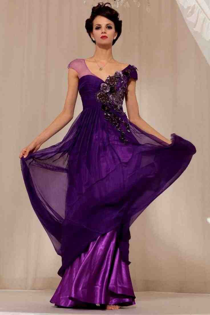 28 best purple wedding dress images on Pinterest | Wedding frocks ...