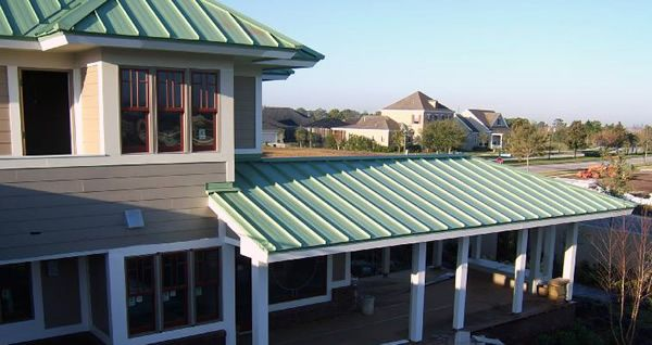 Green Metal Roofs Be Used On The Standing Seam Metal
