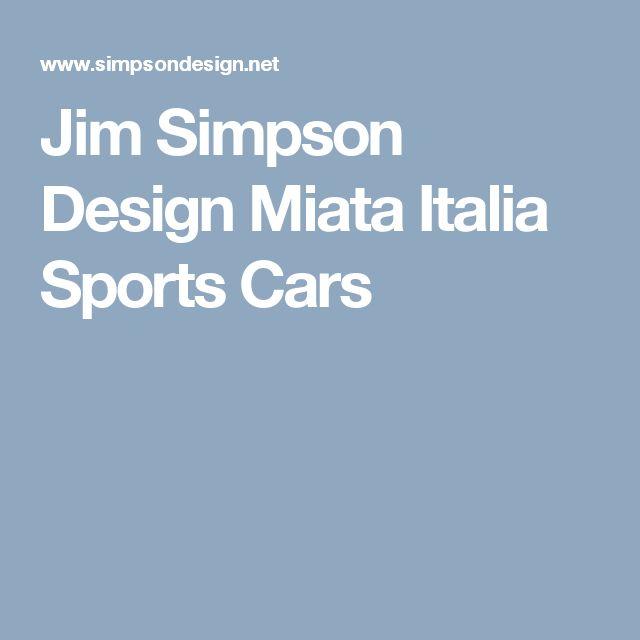 Jim Simpson Design Miata Italia Sports Cars