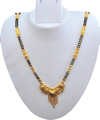 Imitation Gold Plated Long Traditional Mangalsutra Necklace / AZMNGT005-GLD Arras Creations http://www.amazon.com/dp/B00HLPLFO2/ref=cm_sw_r_pi_dp_73GNtb1P779RZ2YF