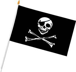 Raise the Rayon Pirate Flag for your fellow Pirates! Each rayon pirate flag measures 11 inches long x 18 inches wide.