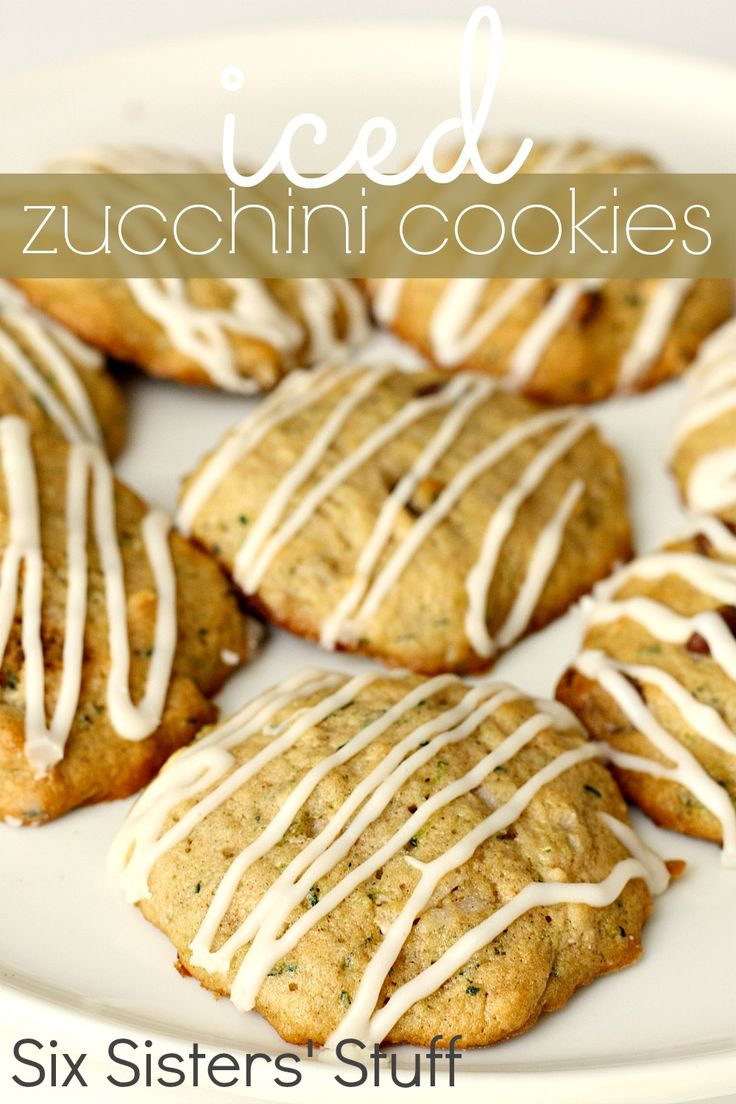 Iced Zucchini Cookies from SixSistersStuff.com- the ...