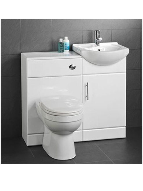 Anico WC And 450 White Vanity Unit