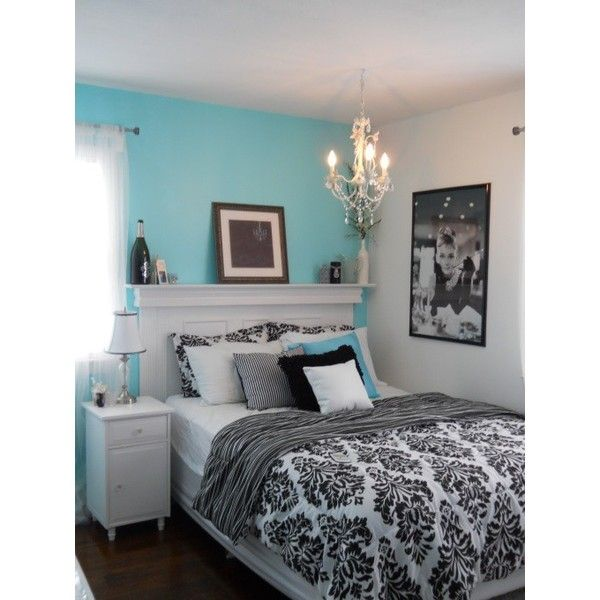 Tiffany inspired bedroom on a budget found on Polyvore