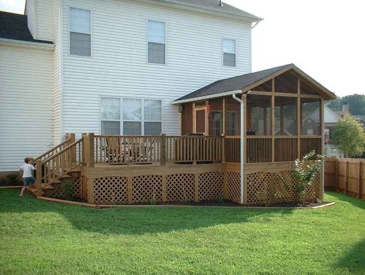 Deck With Screened Porch Wooden Structures Hand Crafted