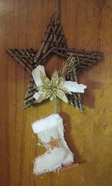 Vánoční dekorace na dveře hvězda