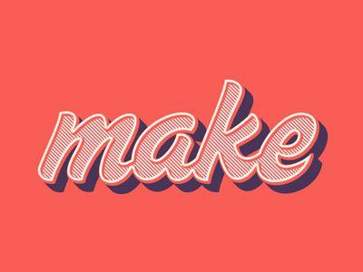 make | #typography