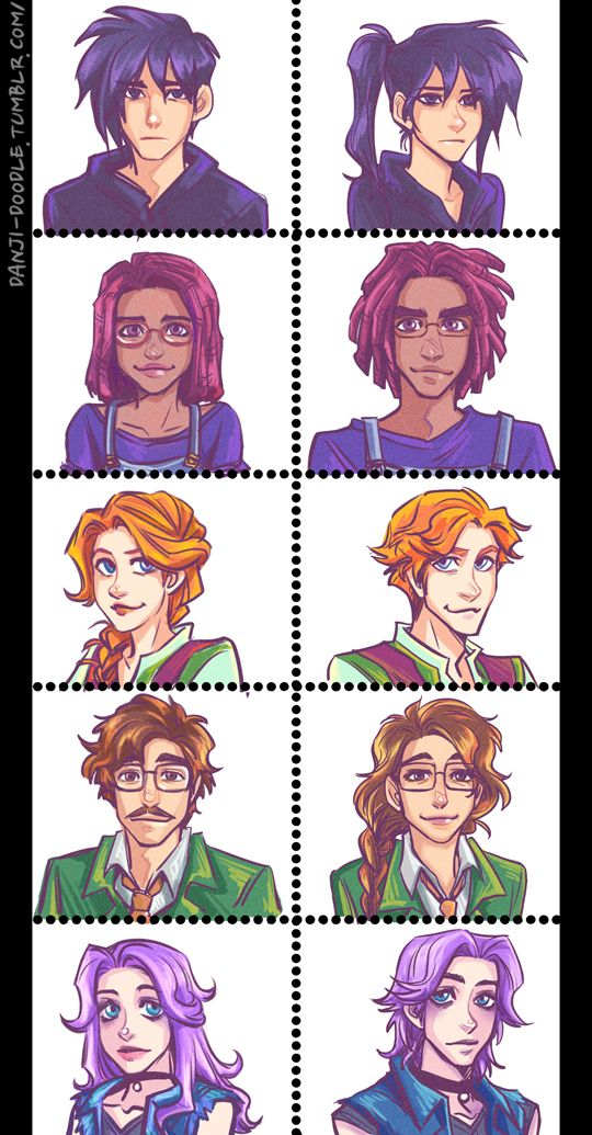 Some of the Stardew Valley romance line is more interesting to me in a Cis swap AU. Which one works for you? =w=