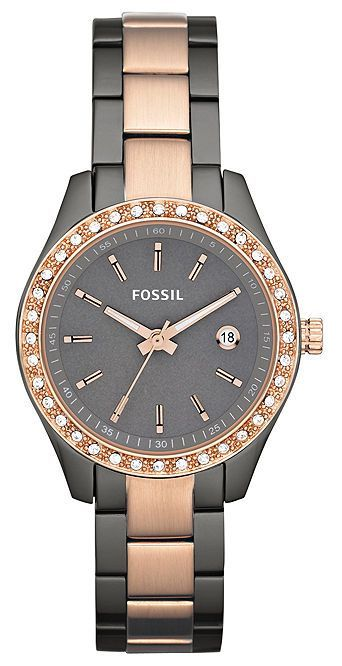 $90 Fossil Watches - Rose Gold and Smoke Ion Ladies Watch