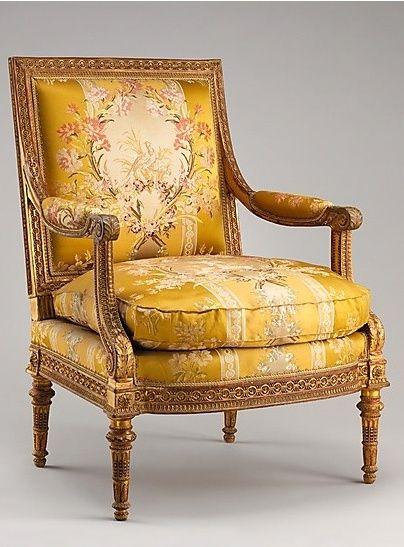 Armchair from Louis XVI's Salon des Jeux. Georges Jacob, 1788.