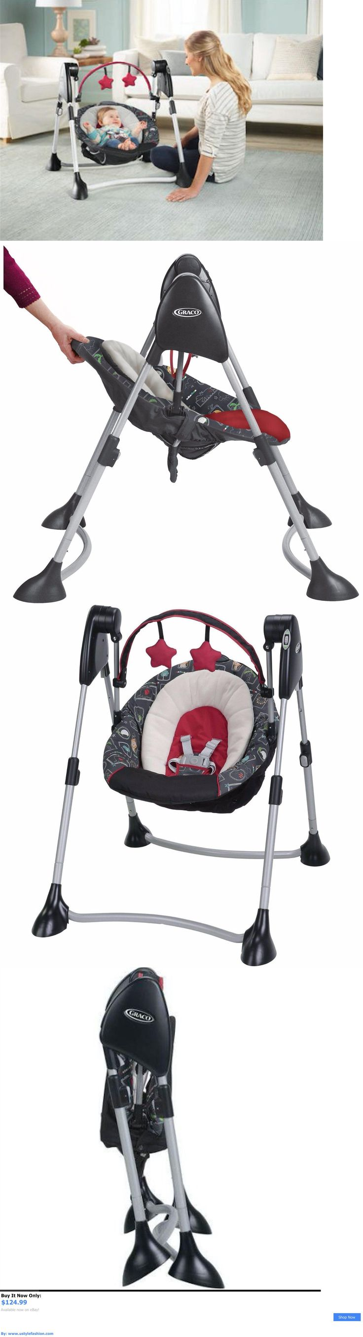 Baby swings: Baby Swing Portable Comfort Infant Rocker Multiple Motion Compact Graco BUY IT NOW ONLY: $124.99 #ustylefashionBabyswings OR #ustylefashion