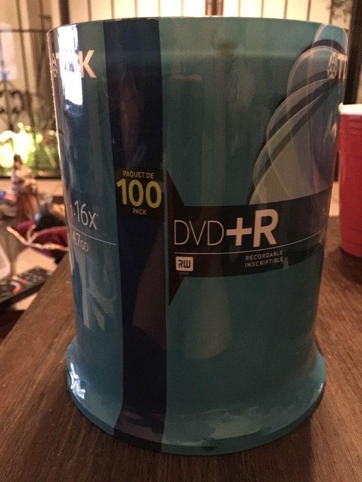 NEW TDK DVD R 4.7GB 16X 100 Pack Blank DVD Discs Model 48521 #TDK