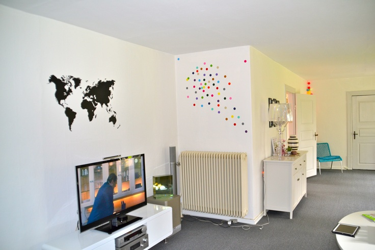 Polka Love + wallsticker fra DiMaria