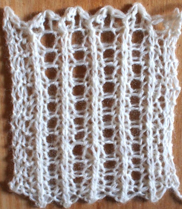 Unique öse Strickmuster Frei Gift - Decke Stricken Muster ...