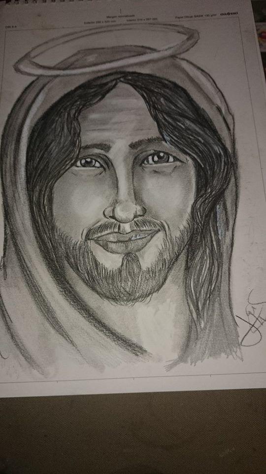dibujo a lapiz o filho de Deus