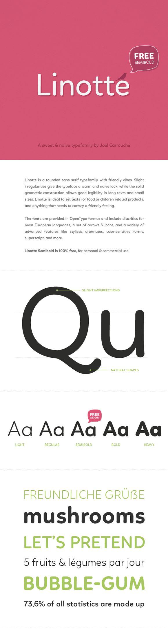 Des1gn ON - Fontes San Serif - Free Font 14-Linotte