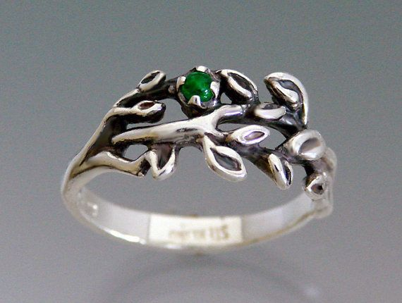 Branches Ring with Emerald Ruby or Sapphire by SheppardHillDesigns, $58.00