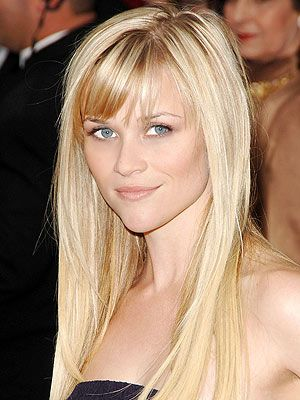 Reese Witherspoon- love her, her blonde and her bangs!