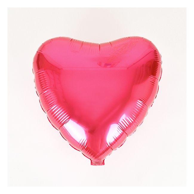 Ballon mylar coeur rose fuchsia