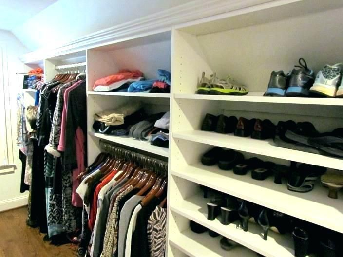 More Click Slanted Ceiling Closet Organizing Systems