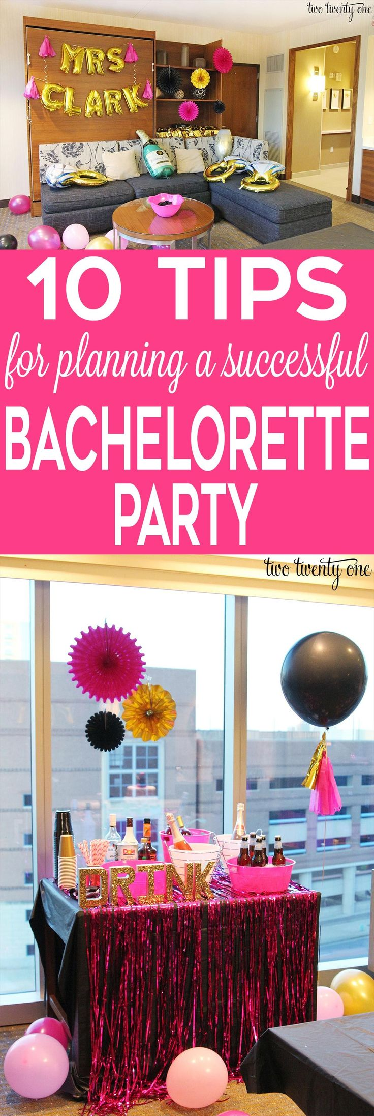 10 tips for planning a successful bachelorette party!