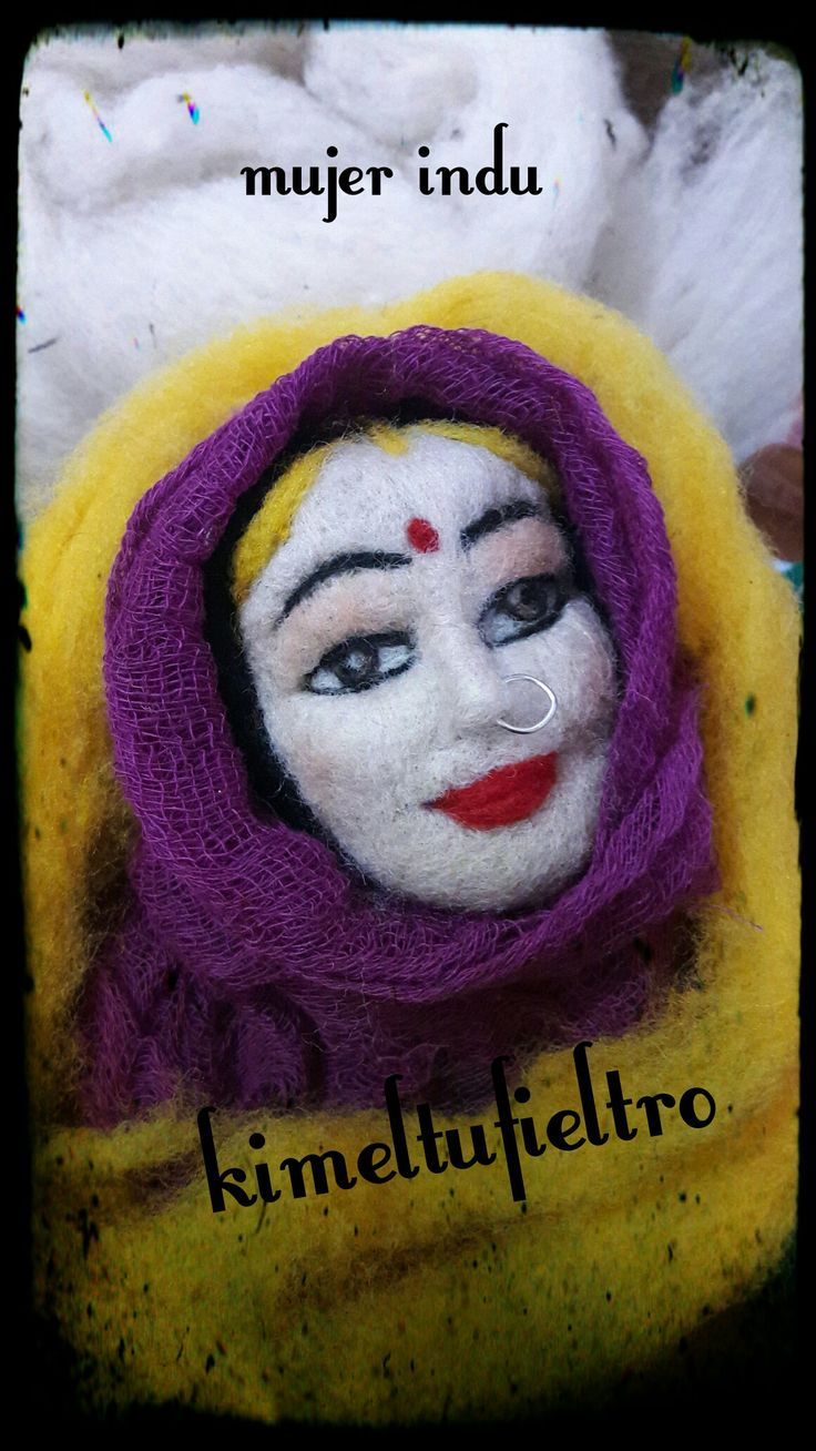 Mujer indu Fieltro con aguja