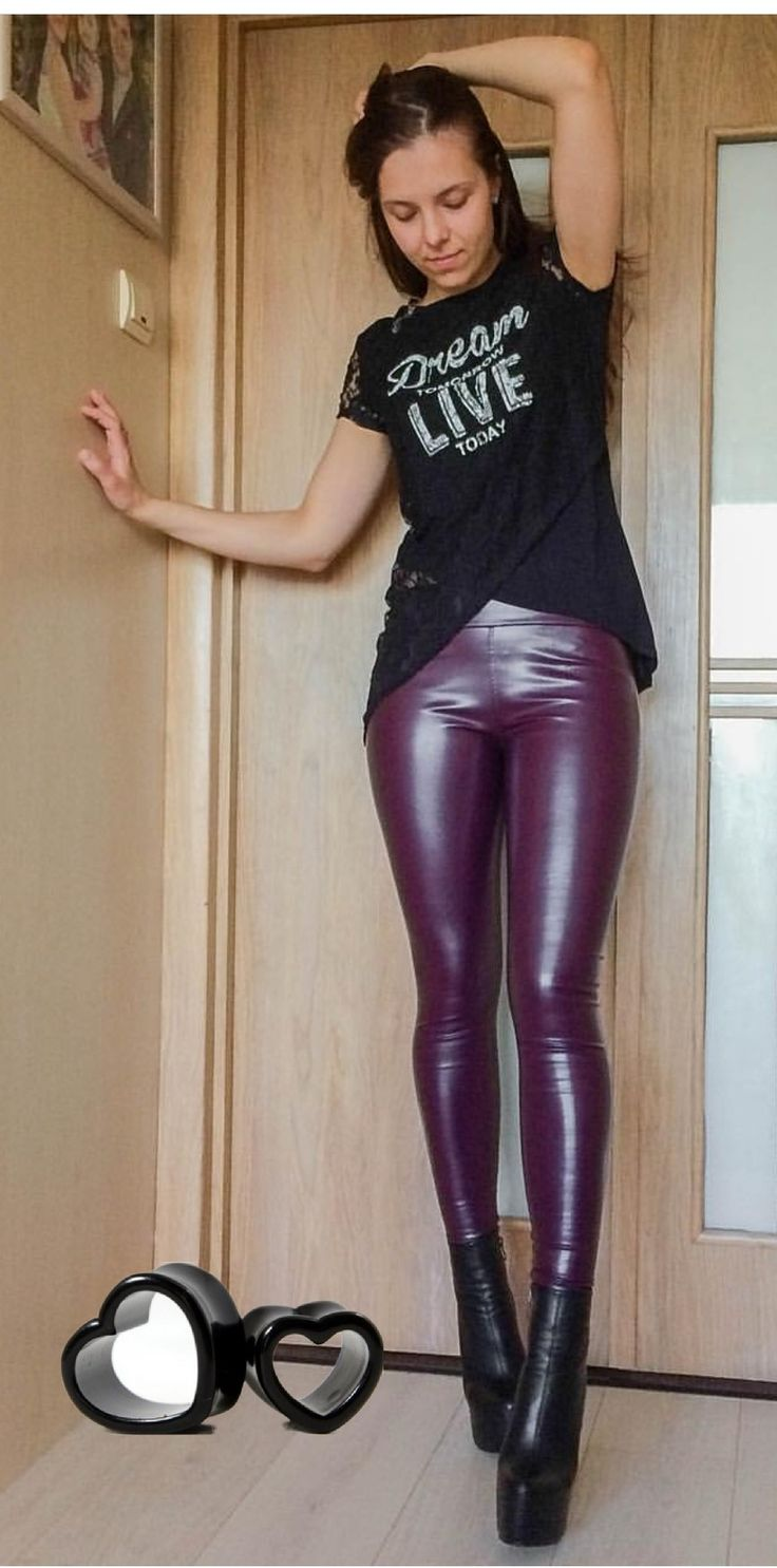 51 Best Leggings In Leather Spandex Wetlook Latex Rubber Images On Pinterest  Leather -2526