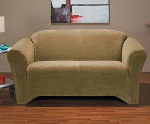 Hanover Camel Sofa Slipcover, Yellow couch, slipcover, trendy slip cover, fashionable furniture