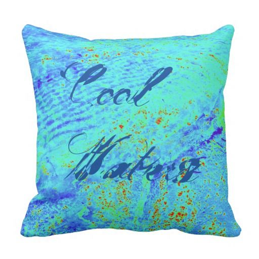 Beach Theme Cool Waters Pillow
