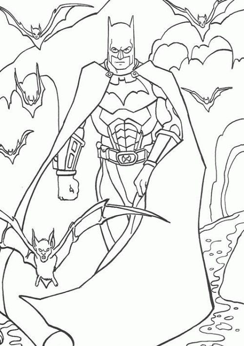 Batman Emerges From The Dark Coloring Pages