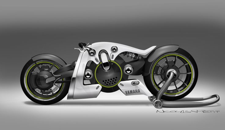 Image for black in white yamaha electric motorcycle for Electric yamaha motorcycle