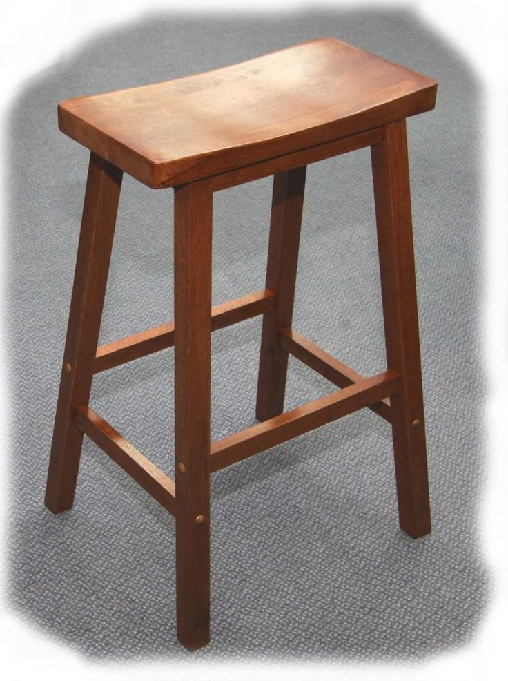 Saddle 690mm Maple Hardwood Timber Bar Stool