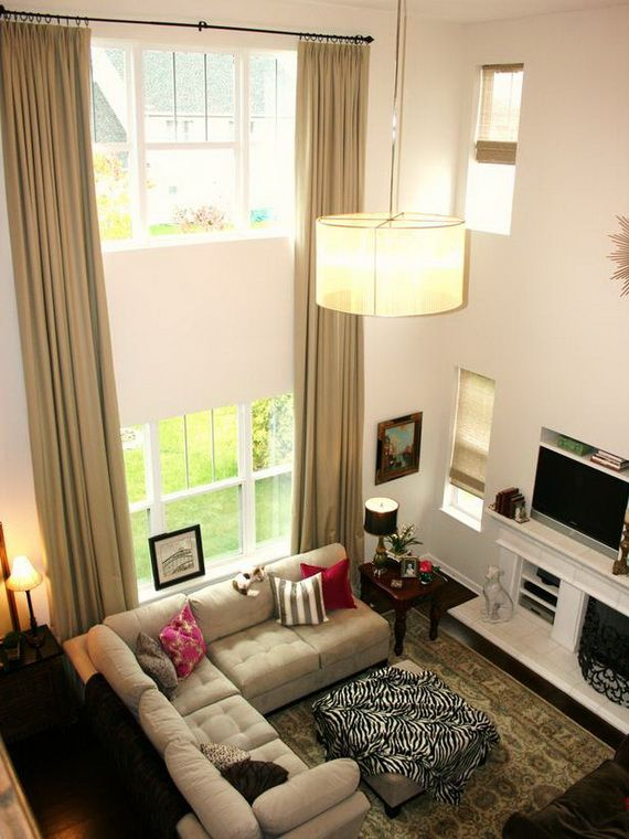 10 Inspirational Window Treatments From HGTV   We Present Here With Some  Stylish Window Treatments From · Living Room ...