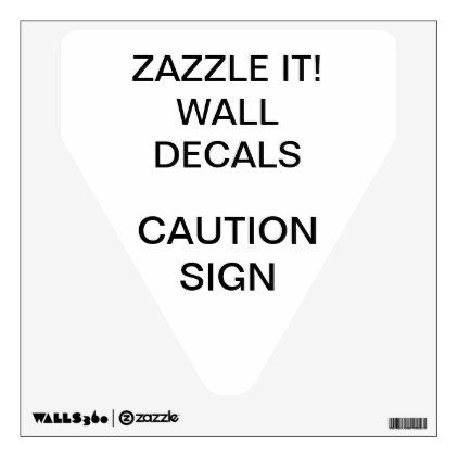 """Custom Personalized 12""""x12"""" DANGER SIGN Wall Decal - walldecals home decor cyo custom wall decals"""