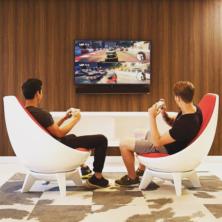 In honor of National Video Games Day! Students and gamers alike love the freedom to move in our Sway lounge chairs! #nationalvideogameday #ispyki #design #collegedesign