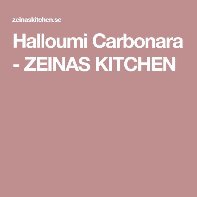 Halloumi Carbonara - ZEINAS KITCHEN