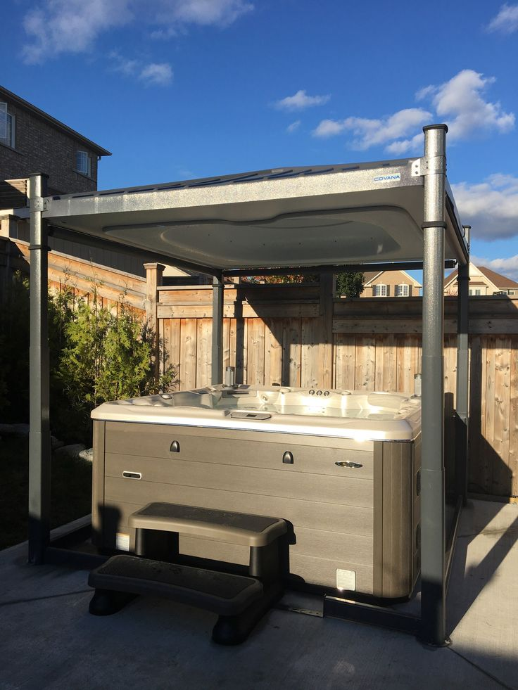 Automatic hot tub covers like The Covana not only look better than traditional hot tub covers, they also insulate better, last longer and are able to stand up to heavy snow loads.