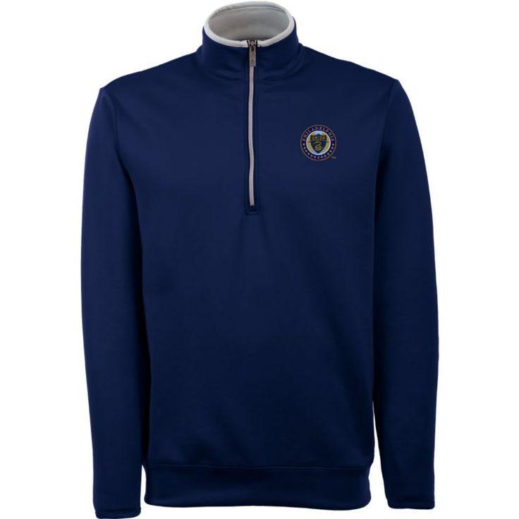 Antigua Men's Philadelphia Union Leader Navy Quarter-Zip Jacket, Size: Medium, Team