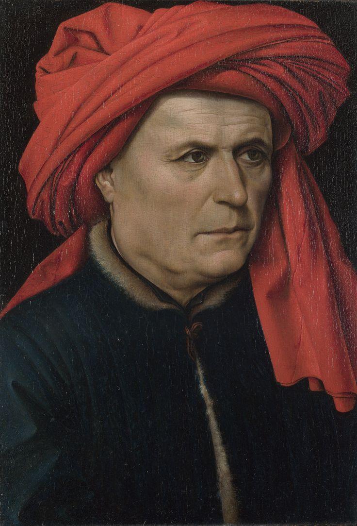 Robert Campin, Ritratto di uomo, 1425-1430. Olio su tavola. Londra, National Gallery.