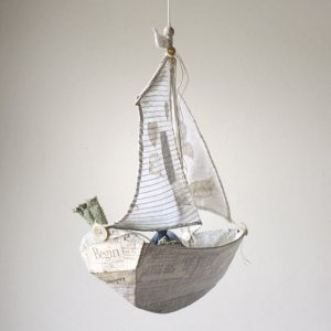 how to make a boat out of paper mache
