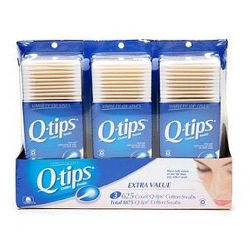 Qtips Cotton Swab, 1875Count by Q-Tips. $12.99. Versatile tool for beauty and nail care, baby care, arts & crafts, cleaning your home and electronics, and more. Paper is sourced from sustainable forests; packaging is recyclable. Pack of three, 625-count packages of Q-tips Cotton Swabs--made with 100% pure cotton (1875 swabs in total). 100% pure cotton, Q-tips cotton swabs have the most soft cotton at the tip and a sturdy paper stick. Made with 100% pure cotton; bi...