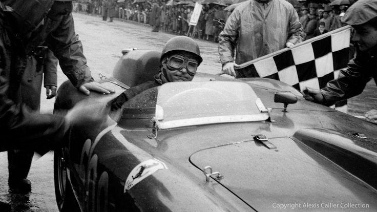 Juan Manuel Fangio in the 1956 Ferrari 290 MM