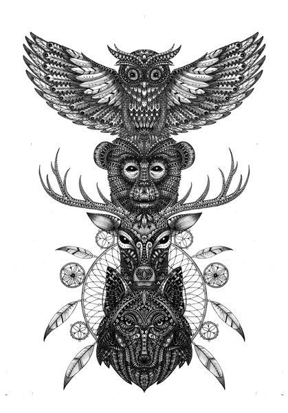 Totem. animals series https://www.behance.net/eivanafer51df
