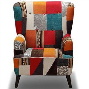 Romania Patchwork Fabric Armchair