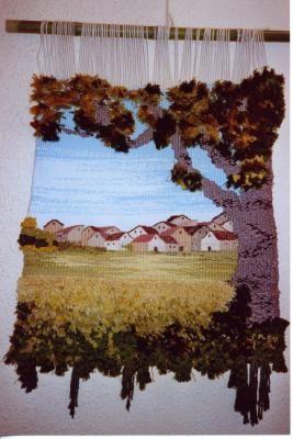 la sombra tapiz lana,algodón,yute tapiz alto lizo