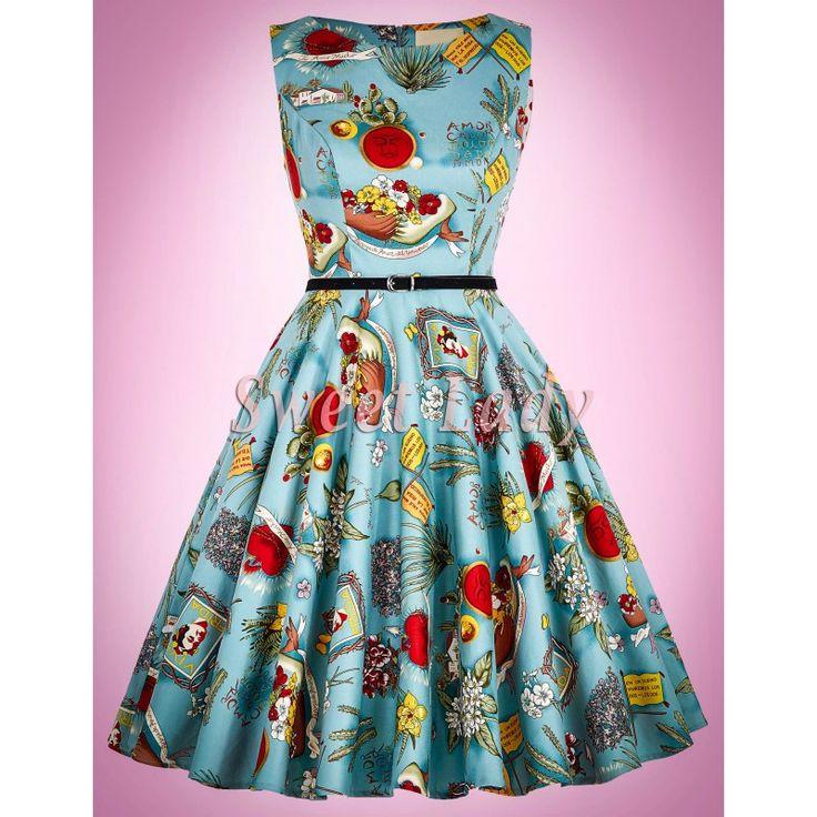 Štýlové vintage šaty so vzorom