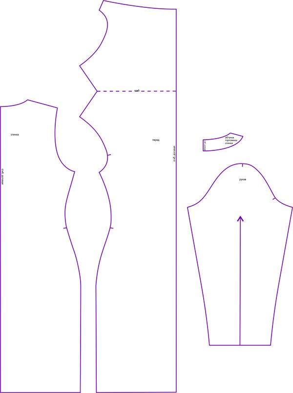 6d53bb5c2aa Выкройка трикотажного платья с драпировкой «качели» WD290119 ...